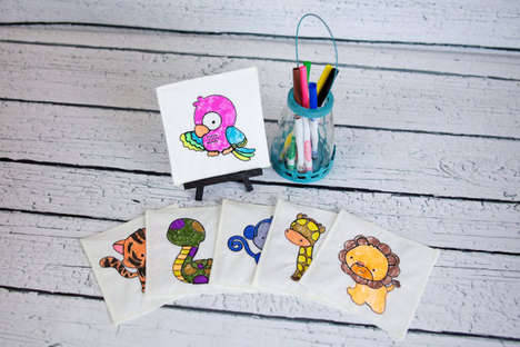Coloring Book Party Favors - These Reusable Canvases are Perfect for Kids' Parties