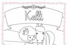 Personalized Princess Coloring Books - Chronicle Books Allows Parents to Customize Using Kids' Names