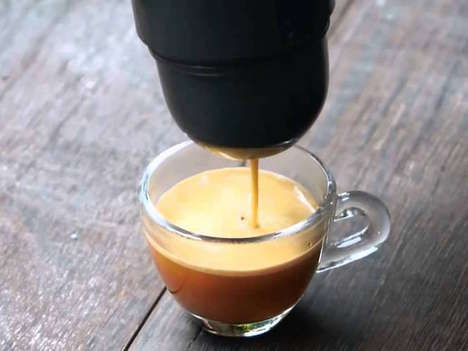Mini Travel Espresso Machines - The Minipresso is the On-the-Go Solution for Coffee Lovers