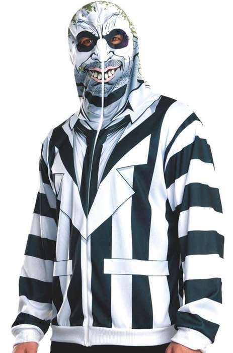Eerie Cinematic Costumes - The Beetlejuice, Beetlejuice, Beetlejuice Costume Hoodie is Unsettling