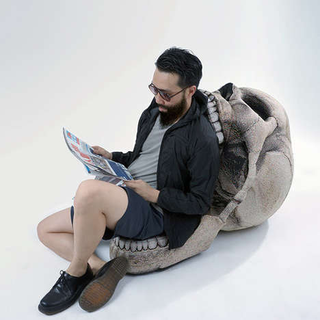 Open Jaw Skull Chairs - This Giant Skull Chair is the Perfect Home Decor Accessory for Halloween