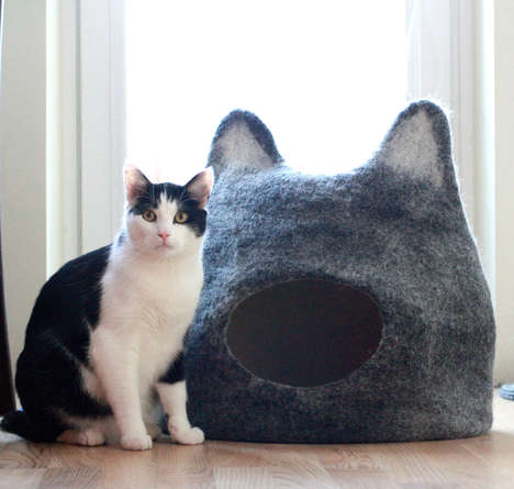 Felt Feline Shelters - These Cat Caves are Designed with Adorable Feline Ears
