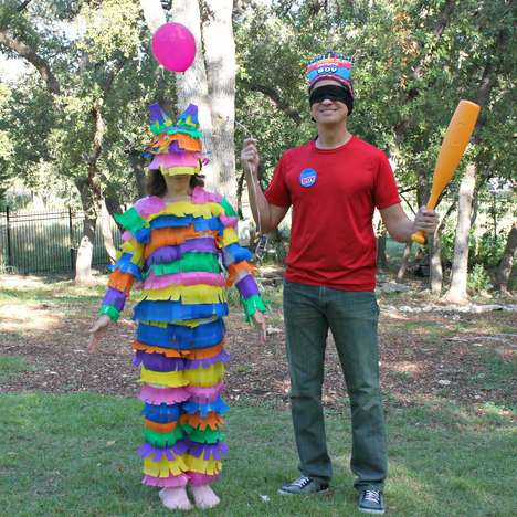 Festive Couple Costumes - The Pinata and Birthday Boy Costume is Fun and Full of Candy