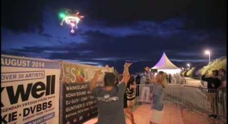 Music-Streaming Drones - The Spotify PartyDrone Plays Personalized Music to Festival Goers