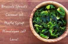 Brussels Sprout Chips - This Healthy Homemade Chip Recipe Calls for an Unusual Green