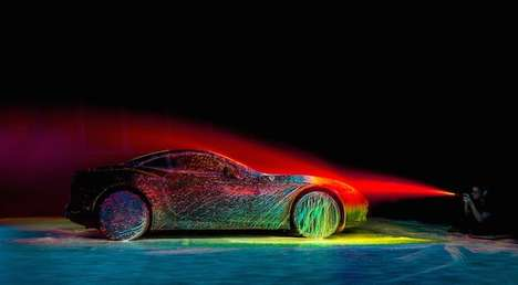 Neon-Painted Sports Cars