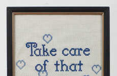 Embroidered Pickup Lines - Elana Adler Turns Men's Catcalls into Painstaking Art