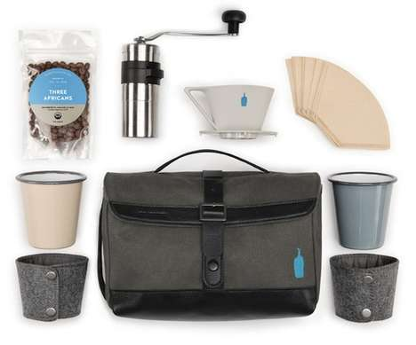 Travel Coffee Kits - This Compact Coffee-Making Kit is Designed for Use on the Go