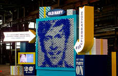 Interactive Balloon Portraits - This Old Navy Ad Turns Your Selfies into Balloon Art
