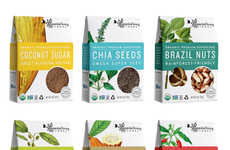 Organic Superfood Branding - Essential Living Foods' Healthy Food Packaging Highlights Nature's Best