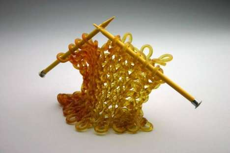 Glass Knitted Sculptures
