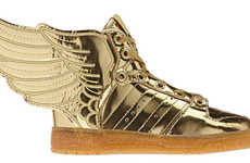 Golden Winged Sneakers