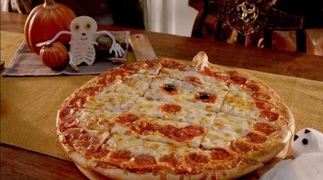 Jack-O-Lantern Pizzas