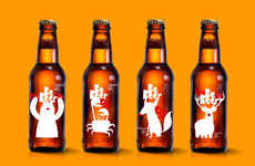 Seasonal Beer Bottles - This Beer Packaging Represents the Spring, Summer, Winter & Fall
