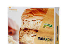 Mouthwatering Pie Boxes - Greeklicious' Pie Packaging Design Supersizes Images to Show Filling
