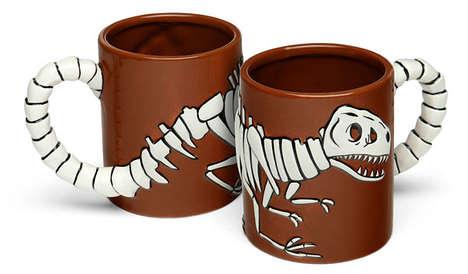 3D Dinosaur Mugs