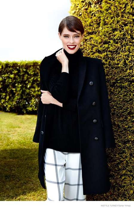 Refreshing Fall Fashion - Canadian Beauty Coco Rocha Stars in Latest InStyle Turkey Issue