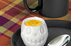 Smiling Skull Shaped Molds - This Skeletal Halloween Egg Mold Transforms Your Breakfast