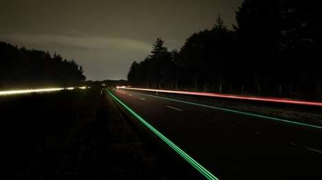 Glowing Road Markings