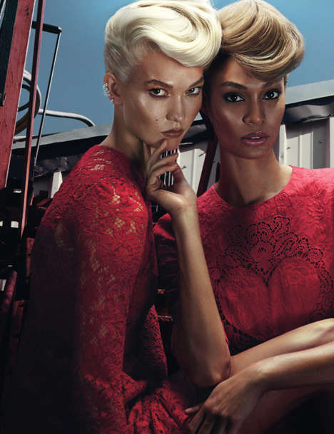 Intense Friendship Editorials - Joan Smalls and Karlie Kloss Star in W Magazine's November Issue