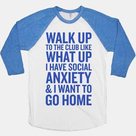 Social Anxiety Shirts