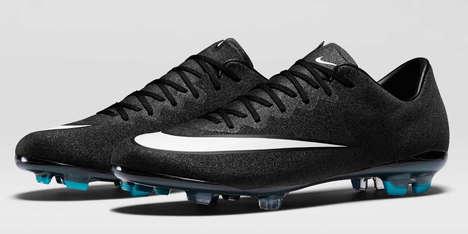 Shimmering Soccer Shoes