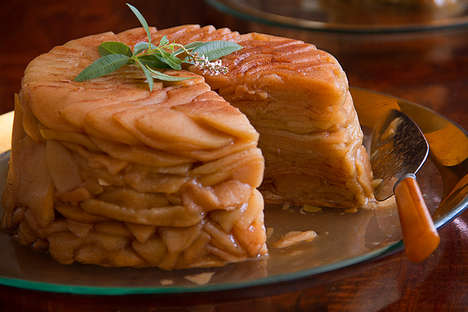 Intricately Stacked Sweets - This Apple Gateau Recipe is Cinnamony Fresh for Fall