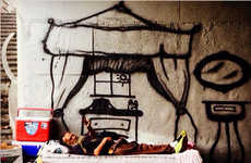 Spray Painted Homeless Homes - Graffiti Artist Skid Robot Imagines Dream Abodes for Less Fortunate