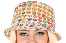 Social Media Headwear - O-Mighty's Emoji Bucket Hat References Cute Mobile Icons