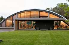 Arching Airplane Homes - The Arc House is Modeled After an Airplane Hangar