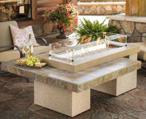 Bejeweled Outdoor Fireplaces