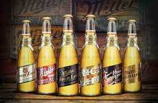 Neo-Vintage Beer Bottles - These Miller High Life Beer Bottles Reference the Brand's History