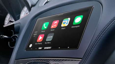 Vehicular Audio Gadgets - The Alpine iLX-007 Uses Apple CarPlay Technology