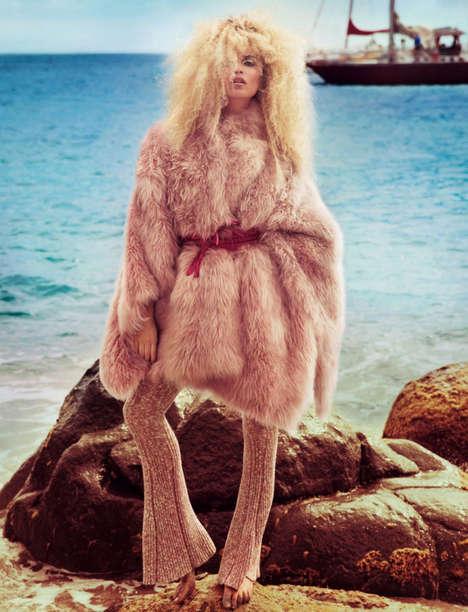 Beachy Fur Editorials