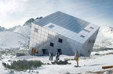 Mountain Adventure Accommodations - Mountain Hostel by Atelier 8000 Boasts Gorgeous Winter Views