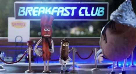 Personified Breakfast Cartoons