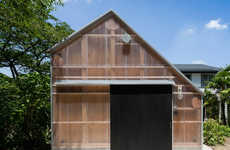 Translucent Corrugated Structures - The Timber Framework of the Light Shed is Still Visible