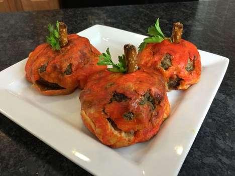 Pumpkin-Themed Meatballs