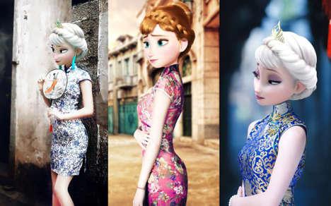 Cultural Disney Princess Makeovers - These Disney Princess Outfits Celebrate Chinese Traditions