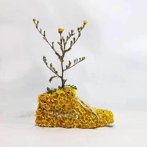 Floral Footwear Sculptures
