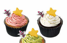 Festive Frosted Desserts - These Christmas Cupcakes from Mister Donut Japan are Indulgently Sweet
