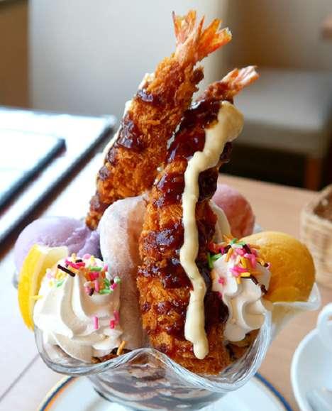 Fried Shrimp Parfaits