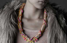 Knotted Neon Jewelry - Nutcase Fashion's Statement Necklaces are Eye-Catching and Unique