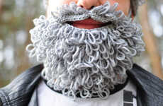 Bearded Winter Accessories - These Crocheted Facial Hair Accessories Celebrate Movember Style