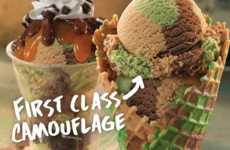 Camouflage Ice Cream - Baskin-Robbins Creates a First Class Flavor Fit for Soldiers
