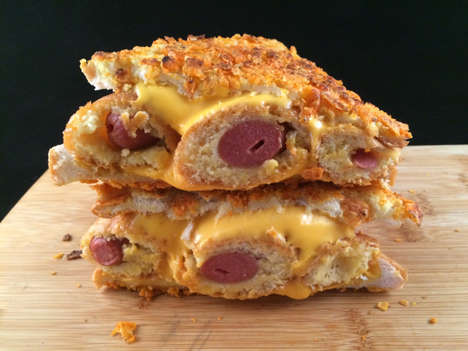 Cheesy Corn Dog Sandwiches