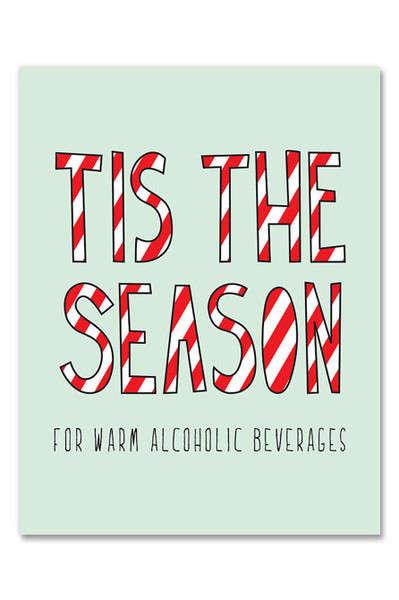 Boozy Christmas Cards