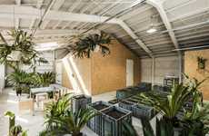 Industrial Indoor Gardens - This Artist's Studio Doubles as a Practical Greenhouse Space