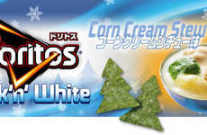 Festive Evergreen Chips - This Limited Doritos' Potato Chip Shape Celebrates the Snowy Season