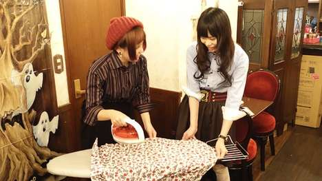 Shirt-Pressing Cafes - This Unique Cafe in Japan Has Maids That Will Iron Your Garments